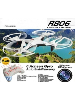 2,4GHZ RC Quadrocopter R806 2.4 GHz Multicopter Drohne mit HD Kamera