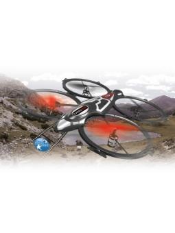XXXL Drohne, Quadrodrom Quadrocopter 4-Kanal 2,4 GHz m. HD-Kamera