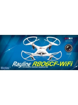 RC QUADROCOPTER RAYLINE R806CF -WIFI W-LAN KAMERA, LIVEBILD AUF IHR SMARTPHONE