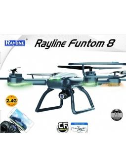 RC QUADROCOPTER RAYLINE FUNTOM 8 HD CAM MIT EXTRA AKKU