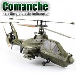 RC Helikopter FX035, FX 060 Comanche, Single 4 CH, 2,4 GHz, Militär Helicopter