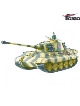 Torro Pro Edition Königstiger - 6mm BB - 360° Turmdrehung - Sommertarn - Stahlgetriebe