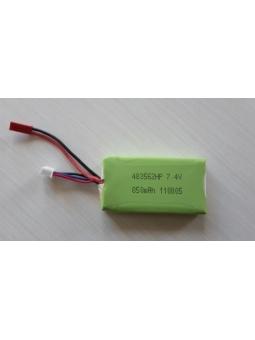 Li-po Akku 7,4V 850mAh L65xB34xH8mm