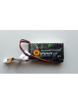 Li-po 2S 7,4V 1000mAh L70xB34xH12mm