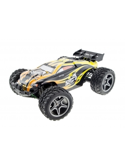 RC Truggy Monstertronic 4WD, 1:10 4WD RC Racing Car 45km/h 2.4GHz Spritzwasserdicht mit 550 Starken Brushed Motor - YELLOW …