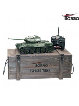 Torro T34/85 RC Panzer 2.4 GHz 1/16 Profi-Metall BB Grün