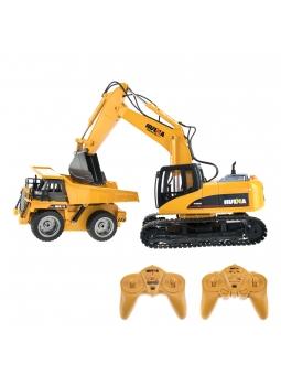 RC Baustellenset 1 - 1:14 RC Bagger 1550 und 1:18 Muldenkipper 1540