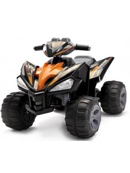 Kinderfahrzeug - Elektro Kinderquad Schwarz, 2x12V Motoren - 12V7Ah Akku