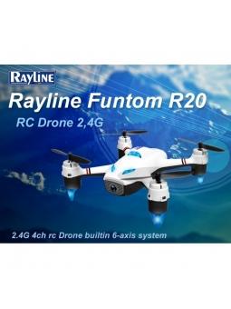 RC Quadcopter Drohne Rayline Funtom R20 WiFi 720PG inkl. VR Brille