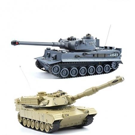 2 Stück Battle Panzer 99822 1:28 mit integriertem Infrarot Kampfsystem