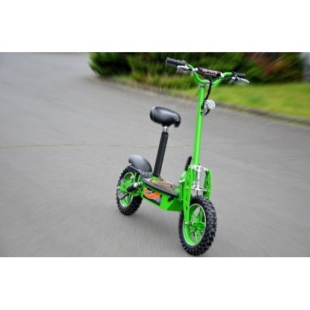 E-Scooter bis zu 40 km/h schnell - mit 25km Reichweite, 36V | 1000W | 12AH Akku, mit Sitz, Bremsen und Lichter -C002G
