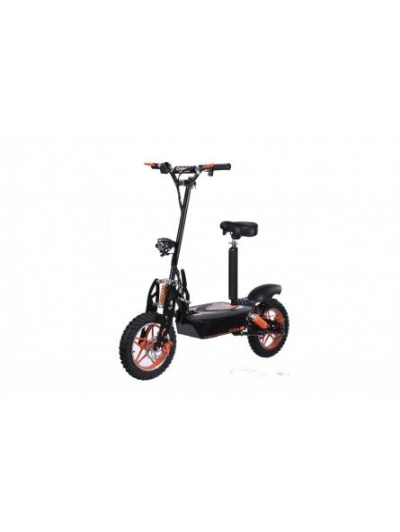 E-Scooter bis zu 40 km/h schnell - mit 25km Reichweite, 48V | 1500W | 12AH Akku, mit Sitz, Bremsen und Lichter -C002B