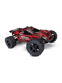 Rustler 4x4 rot RTR +12V-Lader+Akku 1/10 4WD Stadium Truck Brushed
