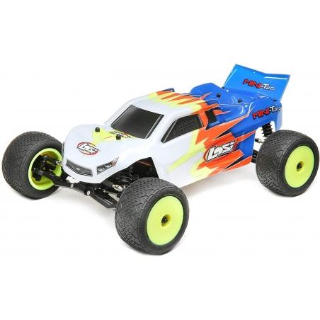 LOSI RC Buggy 1:18 Mini-T 2.0 RTR Blau-Weiss 2WD