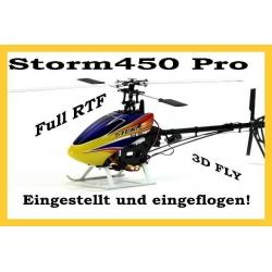 RC Helicopter Storm 450 PRO, 2,4GHz, 6 Kanal, Eingestellt und Eingeflogen, RTF