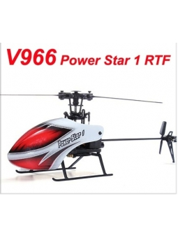 Top RC Helikopter WLtoys V966 Power Star 1 6CH 6-Axis Gyro Flybarless