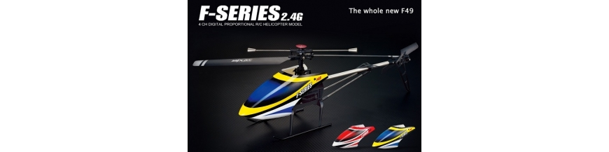 MJX F-49, F649 4 Kanal 2.4GHz  Singleblade Helikopterr